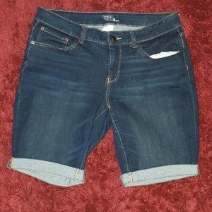 Time & True Denim Bermuda Jean Shorts